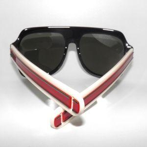 44bdb41535 Gucci Accessories - Gucci 0255S001 Black Ivory Red Grey Sunglasses
